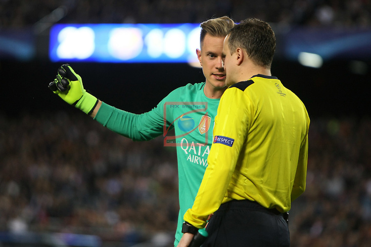 UEFA Champions League 2016/2017 - Matchday 3.<br /> FC Barcelona vs Manchester City FC: 4-0.<br /> Marc-Andre ter Stegen.