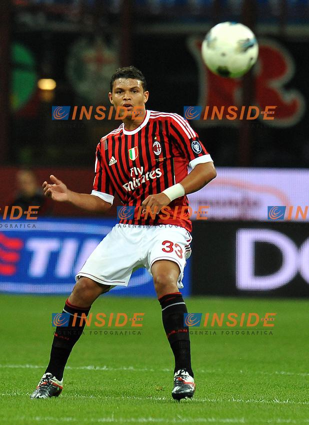 "THIAGO SILVA (Milan).Milano 21/9/2011 Stadio ""Giuseppe Meazza"".Serie A 2011/2012.Football Calcio Milan Vs Udinese.Foto Insidefoto Alessandro Sabattini."