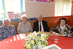Rose Caffrey celebrating her 90th birthday with brother Ben Finnegan, his wife Doris and sister Margaret Reilly. Photo:Colin Bell/pressphotos.ie