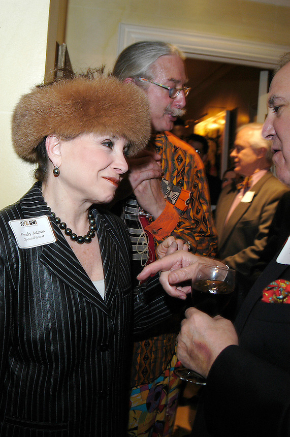 Cindy Adams at dinner for the Women's Campaign on 3/7/05