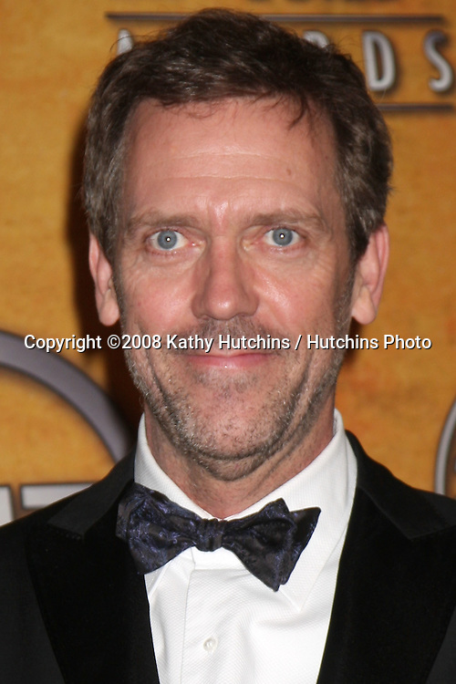 Hugh Laurie in the Press Room at the Screen Actors Guild Awards, at the Shrine Auditorium in Los Angeles, CA on .January 25, 2009.©2008 Kathy Hutchins / Hutchins Photo..