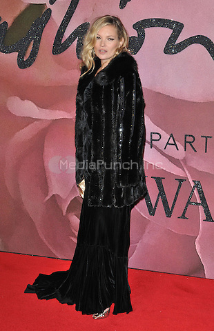 Kate Moss at the Fashion Awards 2016, Royal Albert Hall, Kensington Gore, London, England, UK, on Monday 05 December 2016. <br /> CAP/CAN<br /> ©CAN/Capital Pictures /MediaPunch ***NORTH AND SOUTH AMERICAS ONLY***