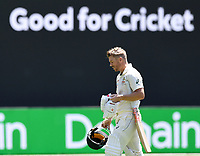 26th December 2019; Melbourne Cricket Ground, Melbourne, Victoria, Australia; International Test Cricket, Australia versus New Zealand, Test 2, Day 1; David Warner of Australia walks off the field after losing his wicket - Editorial Use
