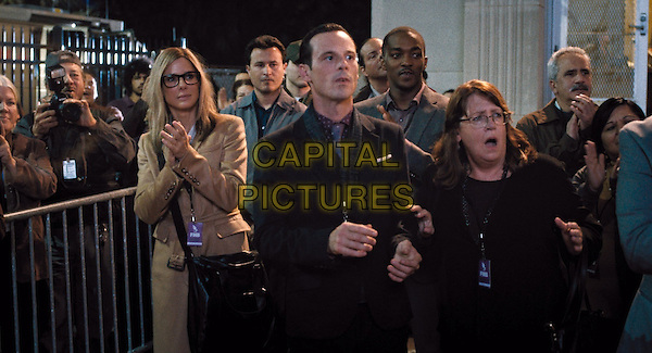 (L-r) SANDRA BULLOCK as Jane, SCOOT McNAIRY as Buckley, ANTHONY MACKIE as Ben and ANN DOWD as Nell in Warner Bros. Pictures and Participant Media's satirical comedy &quot;OUR BRAND IS CRISIS,&quot; a Warner Bros. Pictures release.<br /> *Filmstill - Editorial Use Only*<br /> CAP/KFS<br /> Image supplied by Capital Pictures