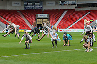 Halloween themed entertainment ahead of the Sky Bet League 2 match between Doncaster Rovers and Wycombe Wanderers at the Keepmoat Stadium, Doncaster, England on 29 October 2016. Photo by David Horn.