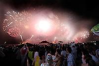 RIO DE JANEIRO, RJ, 31 DEZEMBRO 2011 - REVEILLON PRAIA DE COPACABANA -  Queima de fogos durante virada de ano na praia de Copacabana no Rio de Janeiro. (FOTO: VANESSA CARVALHO - NEWS FREE).