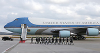 Pictured: The Air Force One before departing from Eleftherios Venizelos Airport in Athens, Greece. Wednesday 16 November 2016<br /> Re: US President Barack Obama state visit to Greece
