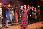 Peter Benson, Jessie Mueller, Betsy Wolfe, Stephanie J. Block, Chita Rivera, Jim Norton, Will Chase, Gregg Edelman, Andy Karl, Robert Creighton & Company during the Broadway Opening Night Performance Curtain Call for 'The Mystery of Edwin Drood' at Studio 54 in New York City on 11/13/2012