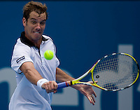 Richard Gasquet (FRA)against Feliciano Lopez (ESP) against Richard Gasquet (FRA) in the first round of the men's singles. Gasquet beat Lopez 6-1 6-4..International Tennis - Medibank International Sydney - MON 11 Jan 2010 - Sydney Olympic Park  Tennis Centre- Sydney - Australia ..© Frey - AMN Images, 1st Floor, Barry House, 20-22 Worple Road, London, SW19 4DH.Tel - +44 20 8947 0100.mfrey@advantagemedianet.com