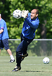 Tim Howard makes a save on Saturday, May 20th, 2006 at SAS Soccer Park in Cary, North Carolina. The United States Men's National Soccer Team held a training session as part of their preparations for the upcoming 2006 FIFA World Cup Finals being held in Germany.