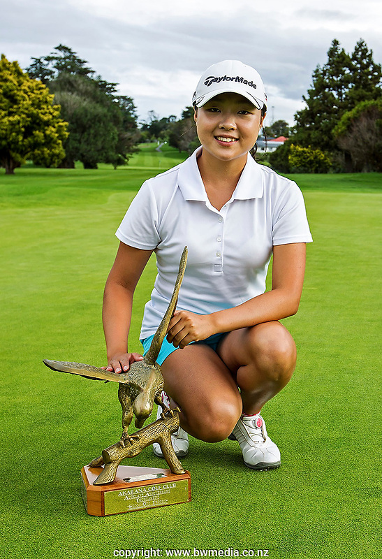 Hanee Song during the Charles Tour, Akarana Open at Akarana Golf Course, Auckland, New Zealand, Sunday 2 April 2017.  Photo: Liz Whitten/NZ Golf MAgazine