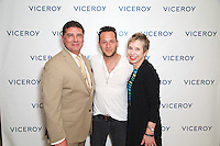 "Sal Abaunza, Jeremy Penn and Mary Pierson attend ""The Gaze"" Exhibition by Jeremy Penn At L'Ermitage Beverly Hills"
