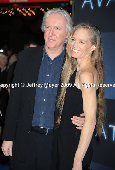 "HOLLYWOOD, CA. - December 16: James Cameron and wife Suzy Amis  attend the Los Angeles premiere of ""Avatar"" at Grauman's Chinese Theatre on December 16, 2009 in Hollywood, California."