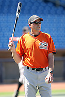 June 11th 2008:  Coach Kennie Steenstra of the Delmarva Shorebirds, Class-A affiliate of the Baltimore Orioles, during a game at Classic Park in Eastlake, OH.  Photo by:  Mike Janes/Four Seam Images