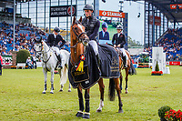 GER-Richard Vogel rides Lesson Peak during the German U25 Trophy of the Stiftung Deutscher Spitzenpferdesport, Prize of Family Müter - Prizegiving. Final-1st. 2019 GER-CHIO Aachen Weltfest des Pferdesports. Saturday 20 July. Copyright Photo: Libby Law Photography