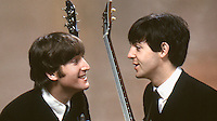 John Lennon and Paul McCartney, February, New York City, 1964. Photographer John G. Zimmerman