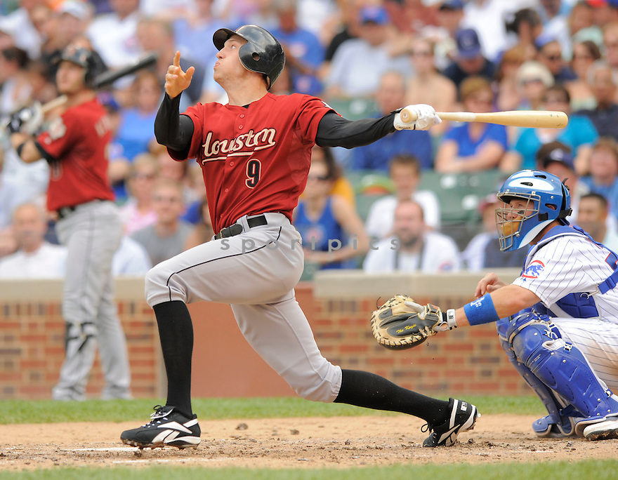 HUNTER PENCE, of the Houston Astros in action  during  the Astros game against the Chicago Cubs .  The  Cubs beat the Astros 12-3 in Chicago, Illinois on July 30, 2009...David Durochik
