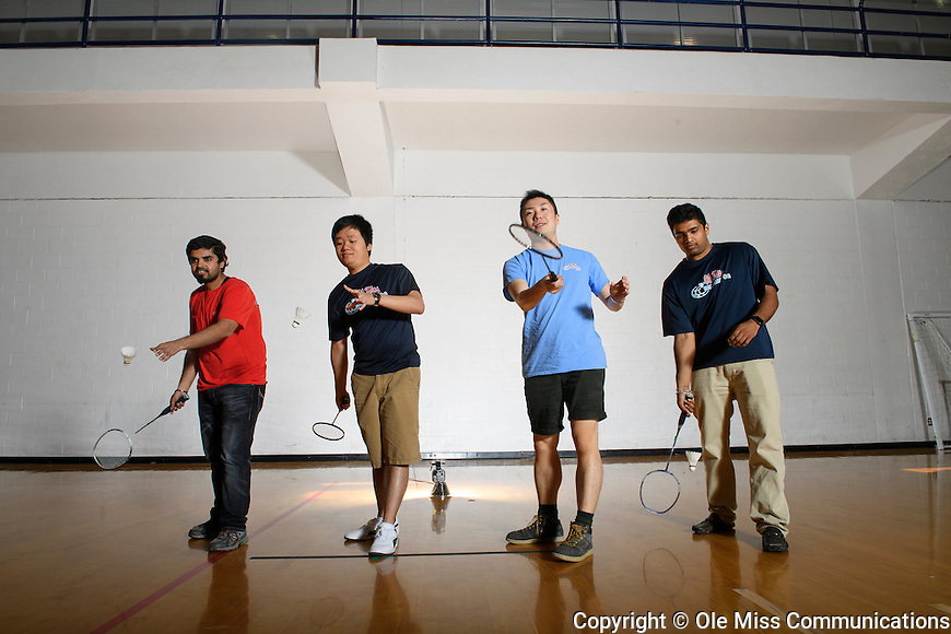 Badminton. Photo by Thomas Graning/Ole Miss Communications