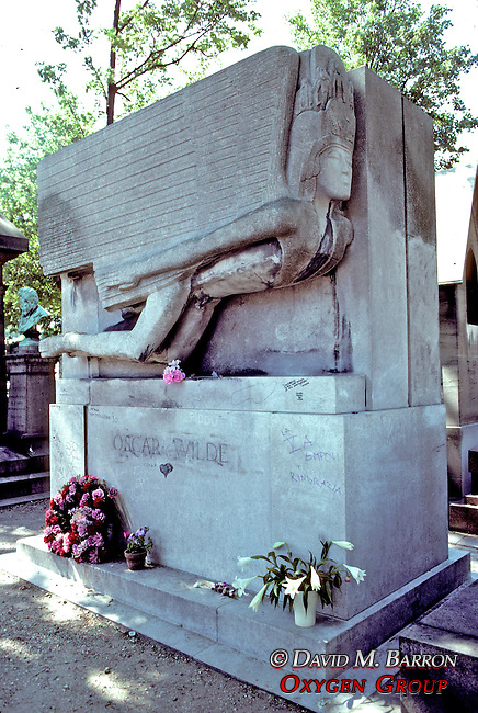 Grave Of Oscar Wilde In Pere Lachaise