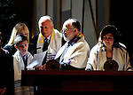 Ethereal light on the Beema of Scasdale-Treemont Temple during an April Bar Mitzvah