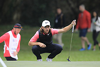 Tommy Fleetwood (ENG) on the 15th green during Round 3 of the UBS Hong Kong Open, at Hong Kong golf club, Fanling, Hong Kong. 25/11/2017<br /> Picture: Golffile | Thos Caffrey<br /> <br /> <br /> All photo usage must carry mandatory copyright credit     (&copy; Golffile | Thos Caffrey)