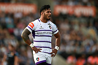 Manu Tuilagi of Leicester Tigers looks on. Gallagher Premiership match, between Exeter Chiefs and Leicester Tigers on September 1, 2018 at Sandy Park in Exeter, England. Photo by: Patrick Khachfe / JMP