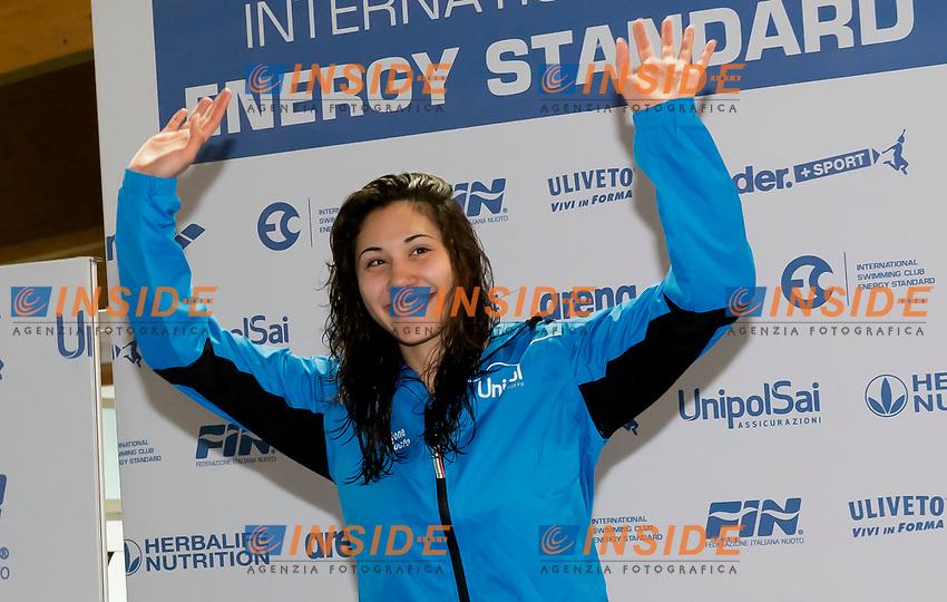 Tania Quaglieri Best Female Fina Performance <br /> Lignano Sabbiadoro 07-05-2017 Ge.Tur Complex <br /> Energy Standard Cup 2017 Nuoto<br /> Photo Andrea Staccioli/Deepbluemedia/Insidefoto