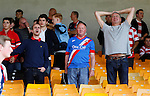 Port Vale 3 Doncaster Rovers 0, 22/08/2015. League One, Vale Park. unhappy Doncaster fans at full time. Photo by Paul Thompson.