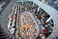 Bangladeshi Muslims offer Jumma prayers at the the National Mosque of Bangladesh, Baitul Mukarram in Dhaka, Bangladesh.