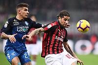 Giovanni Di Lorenzo of Empoli , Ricardo Rodriguez of AC Milan <br /> Milano 22-02-2019 Stadio Giuseppe Meazza in an Siro Football Serie A 2018/2019 AC Milan - Empoli <br /> Foto Image Sport / Insidefoto
