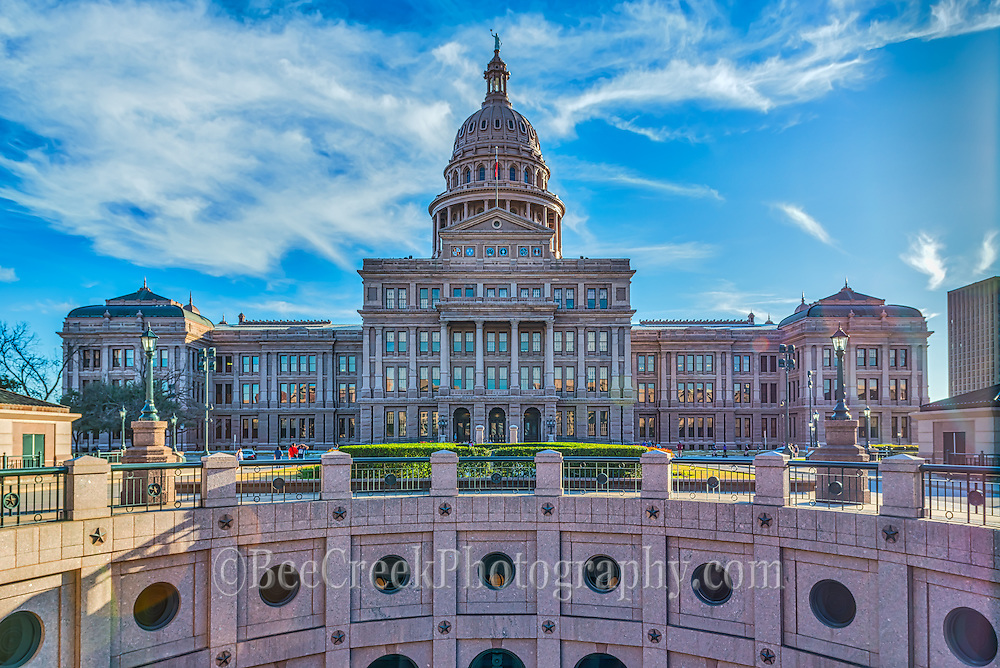 We took this of the Texas State Capital from  my favorite view with the underground extention of the rotundra.  This a popular spot to photograph the Texas Capital from because you can get the view without all the trees like on the front side.