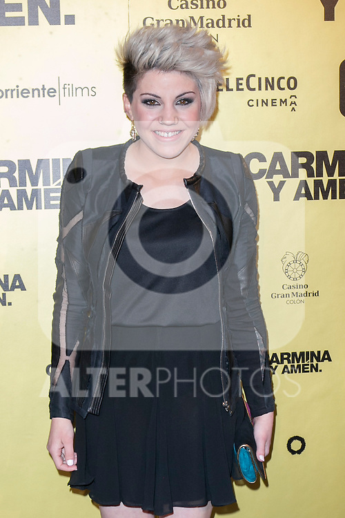 "Spanish singer Angy attend the Premiere of the movie ""Carmina y Amen"" at the Callao Cinema in Madrid, Spain. April 28, 2014. (ALTERPHOTOS/Carlos Dafonte)"