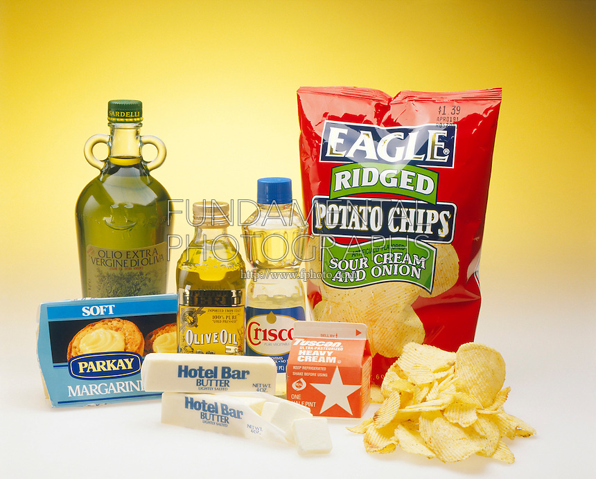 FATS<br /> Cream, butter, margarine, cooking oils &amp; potato chips cooked in fat are rich in fats.