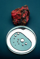 MERCURY &amp; RARE CRYSTAL CINNABAR<br /> Elemental Form &amp; HgS, Chief Ore Of Mercury<br /> Cinnabar, pictured at top, is also known as mercuric sulfide. Mercury is liquid at room temperature.