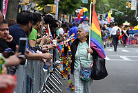 QUEENS, NEW YORK - JUNE 04: The LGBT  Senior street vendor make their way to the march as the LGBT Queens Pride 2017 parade. Across the Jackson Heights streets performances and Latino community take place to celebrate  25 years of the  Queens parade on June 4, 2017 in New York.   Joana Toro/VIEW press