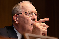 Senator Lamar Alexander, Republican of Tennessee, asks a question to Richard Ashooh, Assistant Secretary For Export Administration at the Bureau of Industry and Security as he testifies during a United States Senate Hearing on the FY 2019 Budget for the Bureau of Industry and Security, the International Trade Administration, and the United States International Trade Commission on Capitol Hill in Washington, DC on September 6, 2018. Credit: Alex Edelman / CNP /MediaPunch