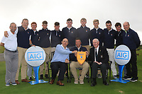 The Galway Team with the Connacht Pennant after winning the Connacht Final of the AIG Barton Shield at Galway Bay Golf Club, Galway, Co Galway. 11/08/2017<br /> <br /> Picture: Golffile | Thos Caffrey<br /> <br /> All photo usage must carry mandatory copyright credit     (&copy; Golffile | Thos Caffrey)