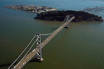 Aerial view of San Francisco – Oakland Bay Bridge
