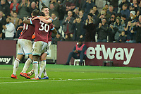 Declan Rice of West Ham United celebrates with Michail Antonio of West Ham United during West Ham United vs Fulham, Premier League Football at The London Stadium on 22nd February 2019