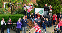 Lincoln City fans during the open top bus tour to celebrate the club winning the EFL Sky Bet League Two<br /> <br /> Photographer Andrew Vaughan/CameraSport<br /> <br /> The EFL Sky Bet League Two - Lincoln City - Champions Parade - Sunday 5th May 2019 - Lincoln<br /> <br /> World Copyright &copy; 2019 CameraSport. All rights reserved. 43 Linden Ave. Countesthorpe. Leicester. England. LE8 5PG - Tel: +44 (0) 116 277 4147 - admin@camerasport.com - www.camerasport.com