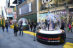 """Times Square Alliance unveiled its first season of Broadway """"Show Globes"""" for """"The Lion King"""", """"Wicked"""" and """"Ain't Too Proud"""" in Times Square on November 04, 2019 in New York City."""
