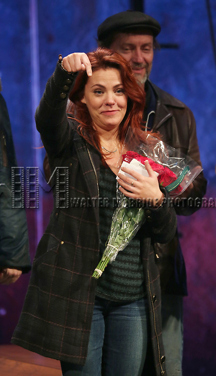 Rachel Tucker during the Broadway Opening Night Performance Curtain Call for 'The Last Ship' at the Neil Simon Theatre on October 26, 2014 in New York City.