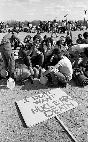 Citizen occupation to stop construction of the Seabrook Nuclear Power Plant in Seabrook New Hampshire organized by the Clamshell Alliance which resulted in 1414 arrested April 30 1977
