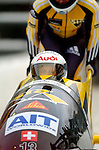 18 November 2005: Sabina Hafner pilots Switzerland 1 to a 12th place finish at the 2005 FIBT AIT World Cup Women's Bobsleigh Tour at the Verizon Sports Complex, in Lake Placid, NY. Mandatory Photo Credit: Ed Wolfstein.