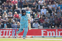 Joe Root (England) drives straight on the move for an easy single during England vs West Indies, ICC World Cup Cricket at the Hampshire Bowl on 14th June 2019