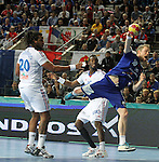 20.01.2013 Barcelona, Spain. IHF men's world championship, eighth.final. Picture show Snorri Steinn Gudjonsson  in action during game between Island  vs France at Palau st Jordi