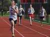 Anthony Figorito of Connetquot races to victory in the 400 meter race during a Suffolk County boys' track and field meet against Middle Country at Connetquot High School on Thursday, May 14, 2015.<br /> <br /> James Escher