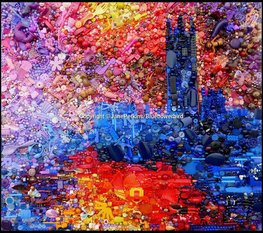 "BNPS.co.uk (01202 558833)<br /> Pic: Bluebowerbird/BNPS<br /> <br /> Monet's famous view of London recreated in recycled plastic.<br /> <br /> PopArt - Artist Jane Perkins recreates famous people and paintings from recycled plastic rubbish.<br /> <br /> Her stunning 'Plastic Classics' generate the most interest and sell for thousands of pounds.<br /> <br /> She has created rubbish replica's of famous paiintings by Van Gogh's, Monet, Raphael, Gustav Klimt, Salvi and Frida Kahlo as well as Japanese artist Katsushika Hokusai's the Great Wave of Kanagawa.<br /> <br /> She also creates pictures of animals for private commissions. For example, a stunning work of a tiger's head is made up of objects like plastic toy animals, golf tees and beads.<br /> <br /> Jane, a former hospital nurse from Kenton, near Exeter, Devon, now sells her work for up to £2,500 a go.<br /> <br /> She said: ""I go to car boot sales and buy anything that is plastic, mostly toys and bits of broken jewellery, anything small. The neighbours often give me bags of bits and pieces they no longer want. <br /> <br /> ""People love them because they can see the whole image but also see what is in it. They can find things in them that they recognise, like little bits from their childhood."
