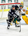 6 December 2009: University of New Hampshire Wildcats' forward Paul Thompson, a Junior from Derry, NH, in action against the University of Vermont Catamounts at Gutterson Fieldhouse in Burlington, Vermont. The Wildcats defeated the Catamounts 5-2 in the Hockey East matchup. Mandatory Credit: Ed Wolfstein Photo