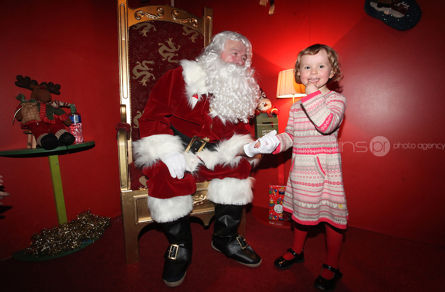 ****NO FEE PIC ******.19/11/2011.Genevieve Prenderville (5) from Monkstown.at the opening of Santa's Playland in The Ambassador Theatre,Dublin.One of this Christmas' biggest events is coming!  Santa's Playland takes up residence at The Ambassador Theatre in preparation for this year's festive season.  The spectacular event opens on Saturday 19 November and runs until Friday 23 December. Santa's Playland will see children transported to a magical Christmas paradise.On entering Santa's Playland children will be treated to a special Christmas play time.  The Play Area is full of Christmas treats with bouncy castles, slides and Christmas displays..Photo: Gareth Chaney Collins